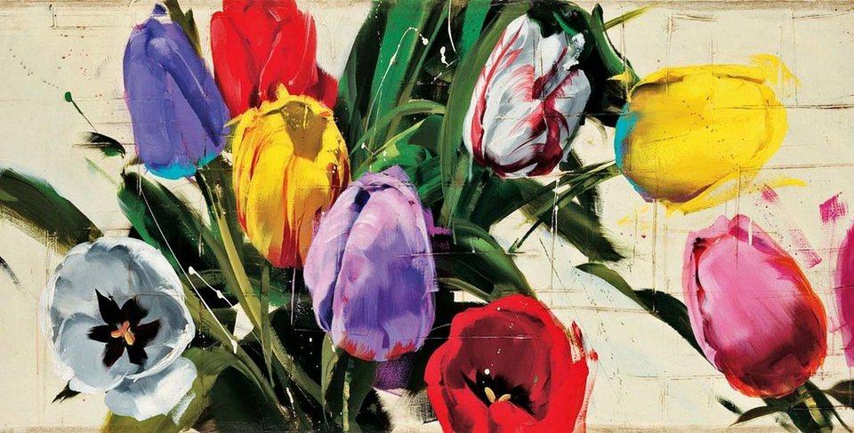 Home Affaire Deco Panel, »Antonio Massa / Spring n.13«, 138/70/2 cm in bunt