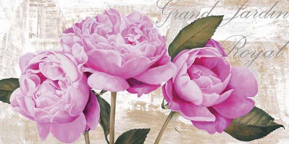 Home Affaire Deco Panel, »Jenny Thomlinson /Grand Jardin Royal«, 100/50/2 cm in rosa/beige