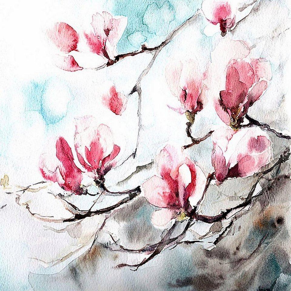 Home Affaire Deco Panel, »Cannotstop / Magnolia, Spring«, 70/70/2 cm in bunt