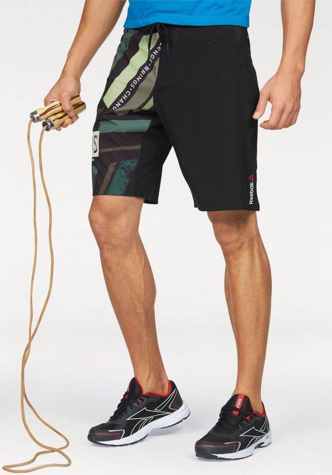 Reebok Shorts »One Series Stripe Short« in schwarz