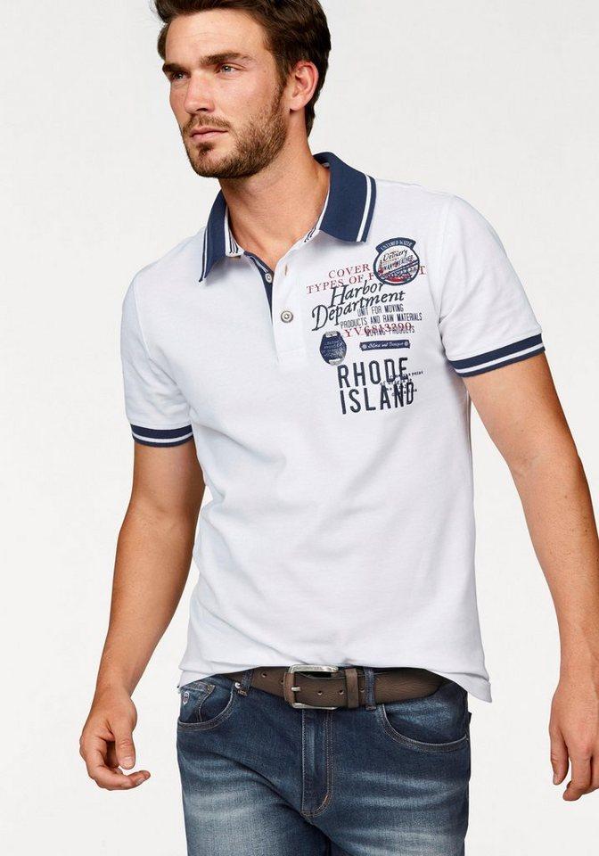 Rhode Island Poloshirt »Piqué Qualität« in weiß