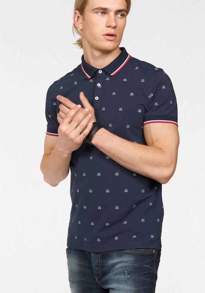 John Devin Poloshirt in marine-bedruckt