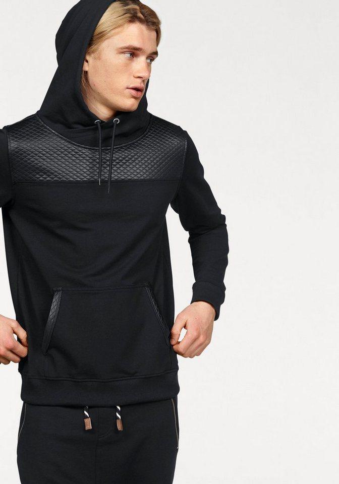 John Devin Kapuzensweatshirt mit Elasthan in schwarz