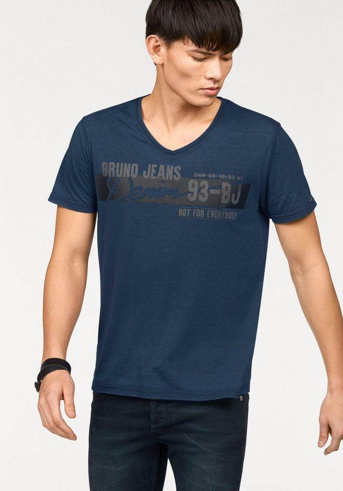 Bruno Banani T-Shirt in marine-meliert