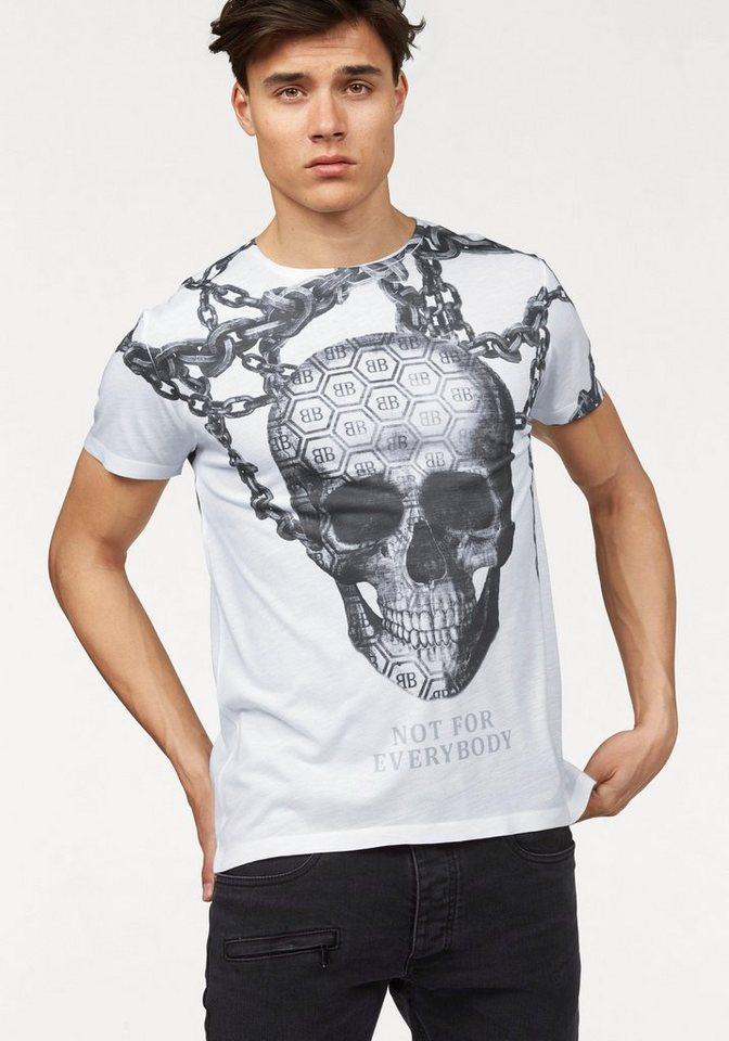 Bruno Banani T-Shirt in weiß-bedruckt