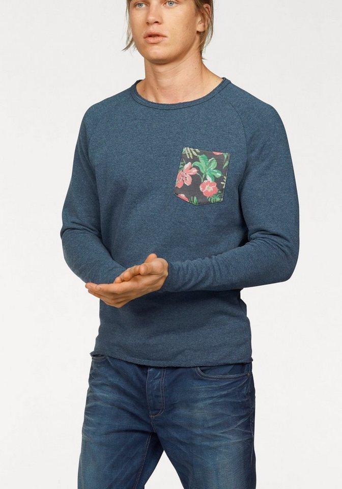Jack & Jones Sweatshirt in blau-meliert