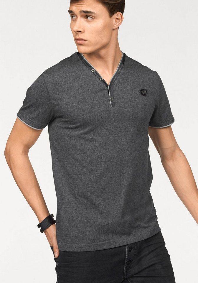 Bruno Banani T-Shirt in dunkelgrau-meliert-meliert