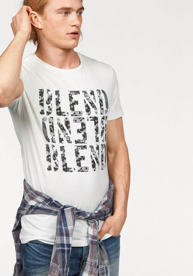 Blend T-Shirt mit Frontprint in offwhite