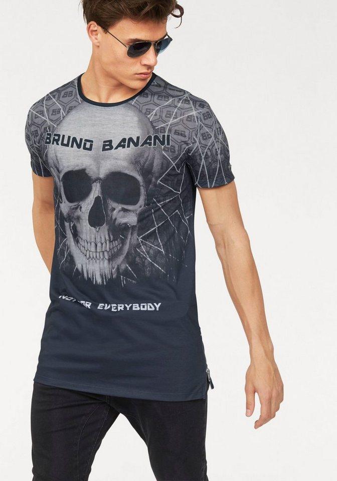 Bruno Banani Longshirt in schwarz-bedruckt