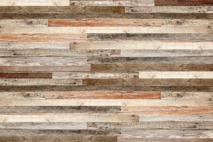 Home affaire Fototapete »Wooden Wall«, 350/260 cm in braun/beige