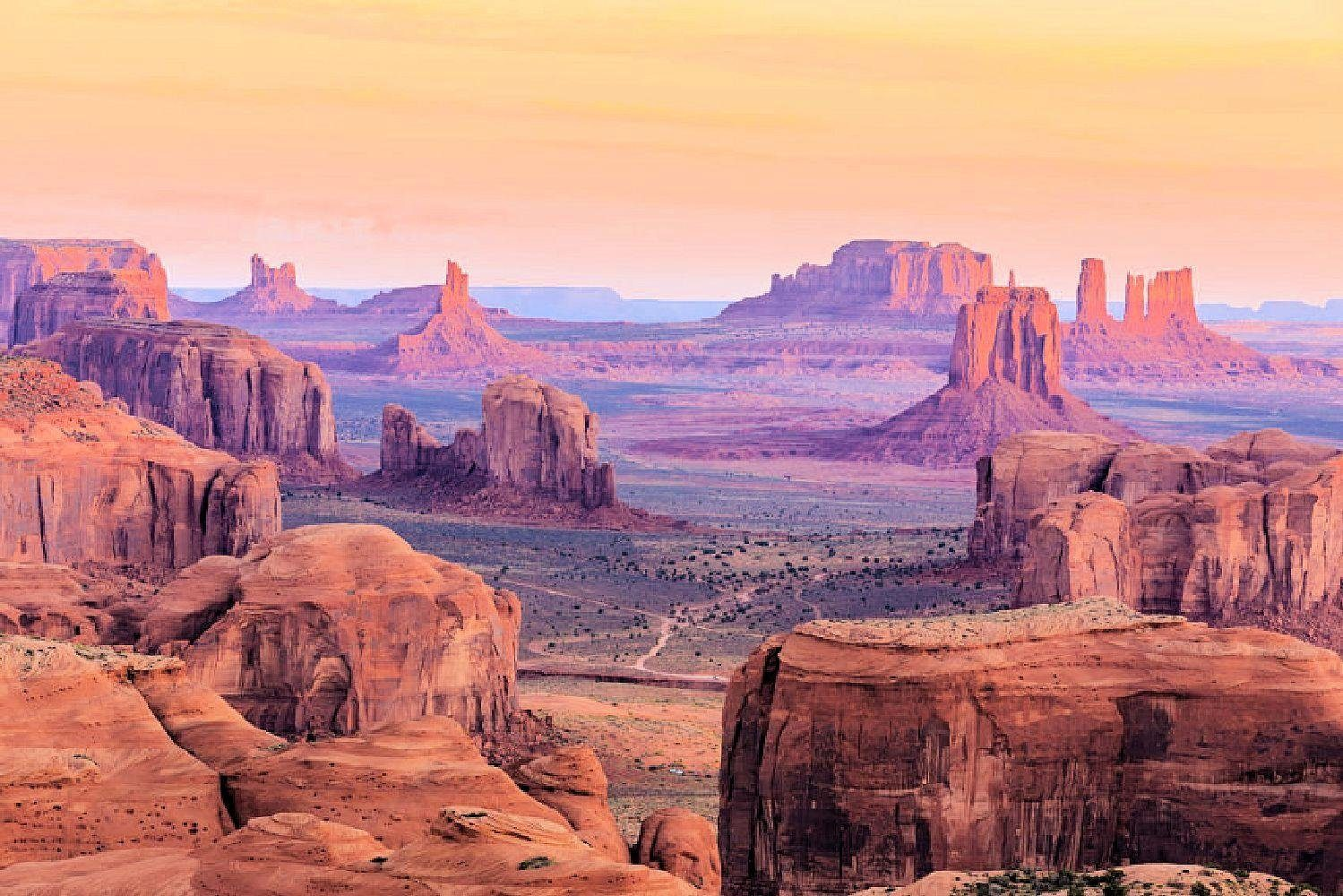 Home affaire Fototapete »Hunts Mesa Sunrise«, 350/260 cm