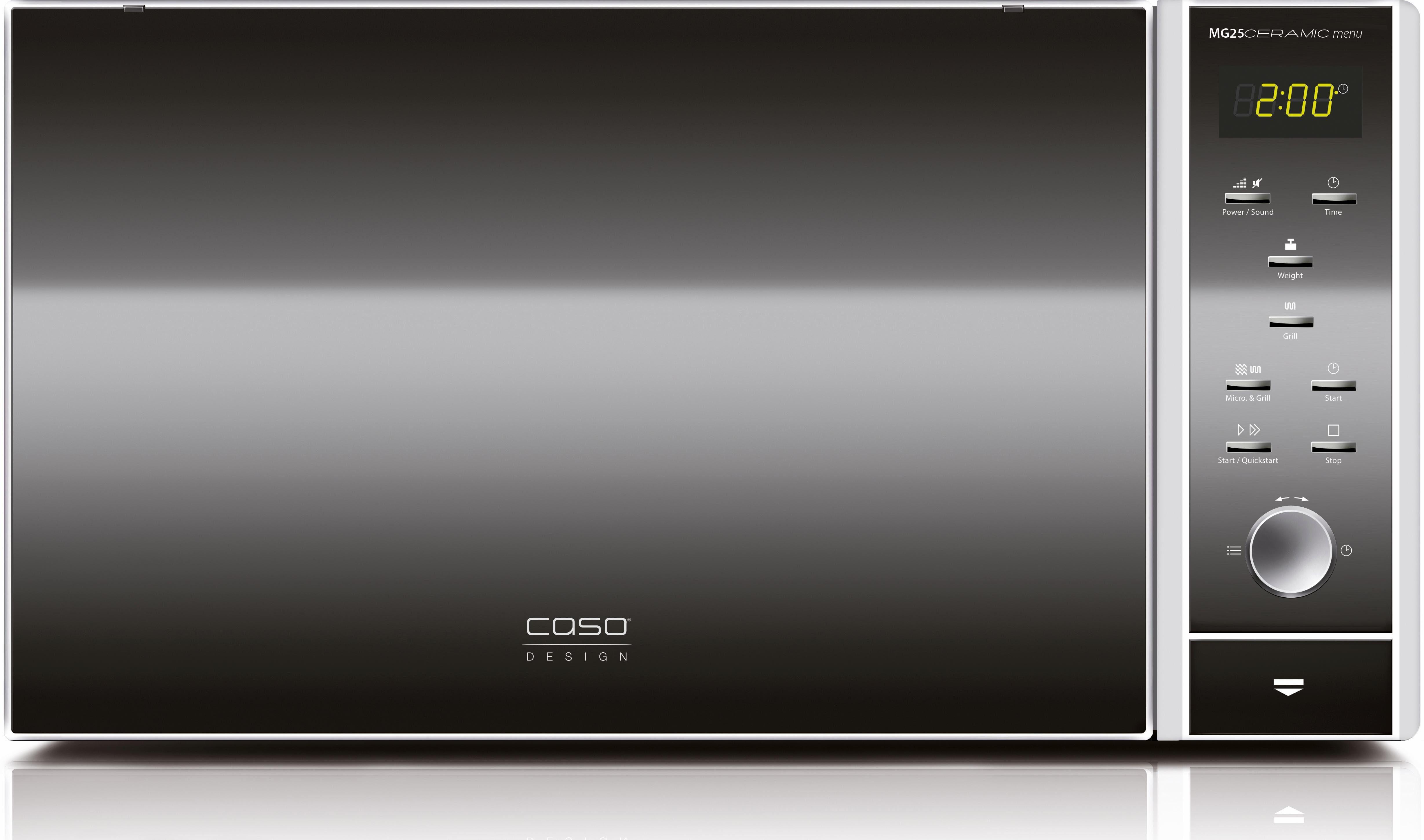 CASO Design Mikrowelle CASO MG25C menu 2in1, mit Grill, 25 Liter Garraum, 900 Watt