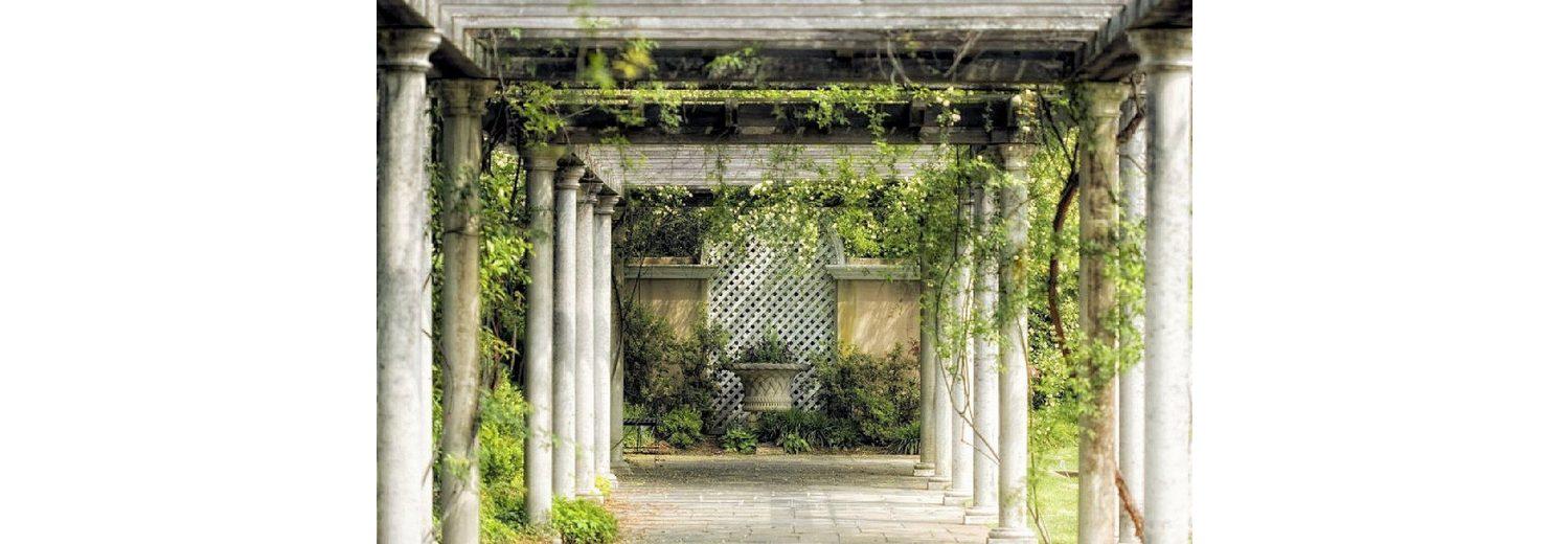 Home affaire Fototapete »Walkway in Garden«, 350/260 cm