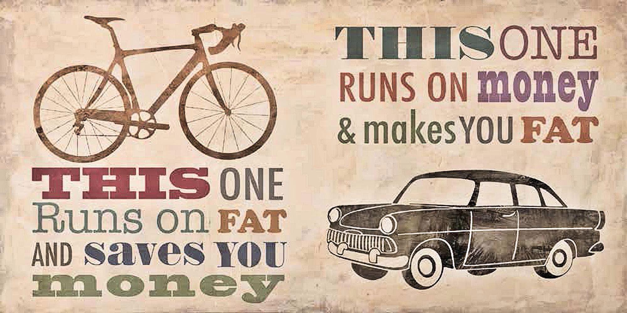 Home Affaire Deco Panel, »Skip Teller / Bikes vs. Car«, 100/50/2 cm
