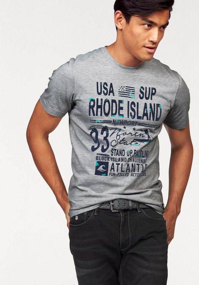 Rhode Island T-Shirt in hellgrau-meliert