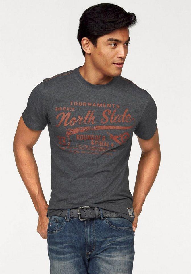 Rhode Island T-Shirt in anthrazit-meliert
