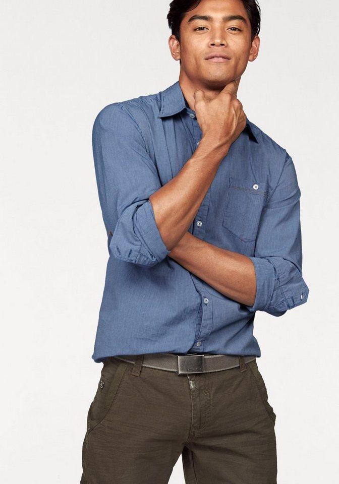 TIMEZONE Streifenhemd in blau-gestreift