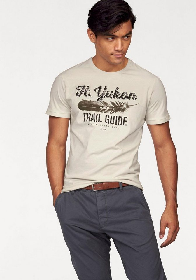 s.Oliver RED LABEL T-Shirt in ecru