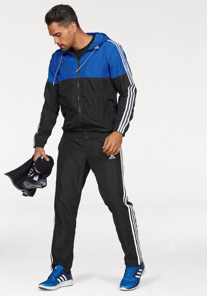 adidas Performance Sportanzug »TRACKSUIT TRAIN WOVEN« in schwarz-blau