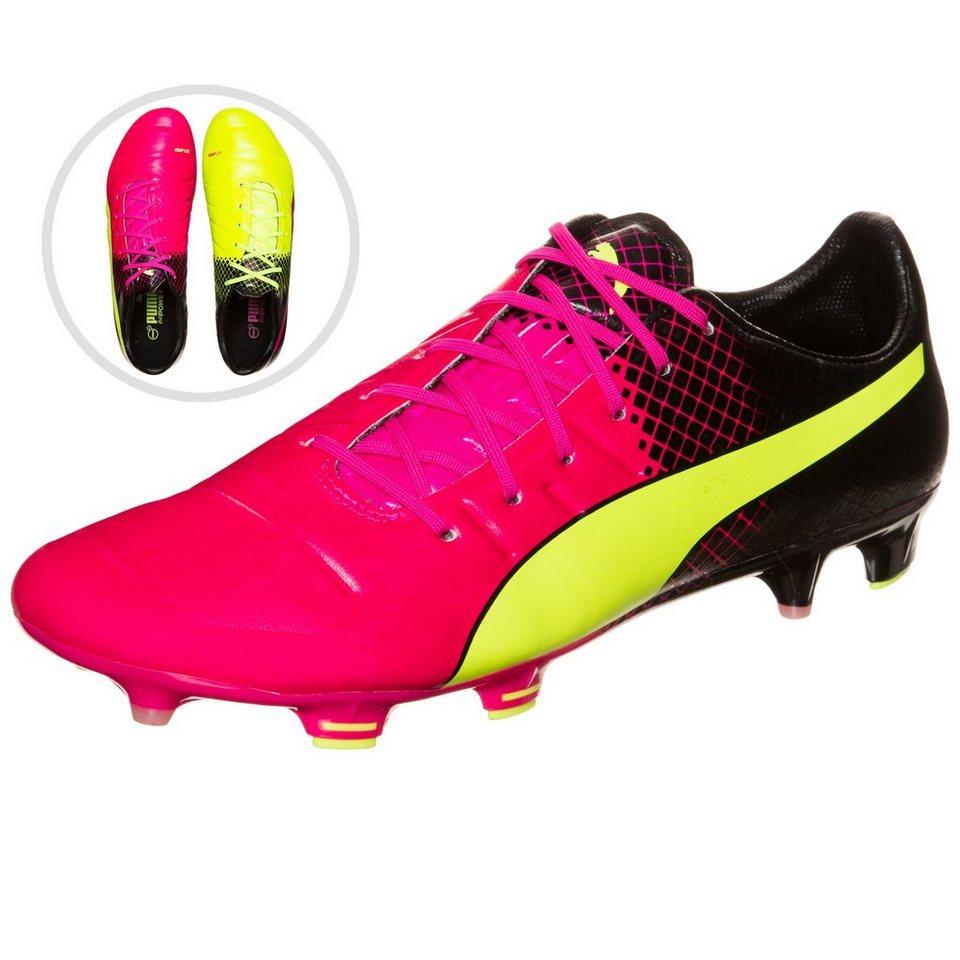 PUMA evoPOWER 1.3 Tricks FG Fußballschuh Herren in pink / neongelb