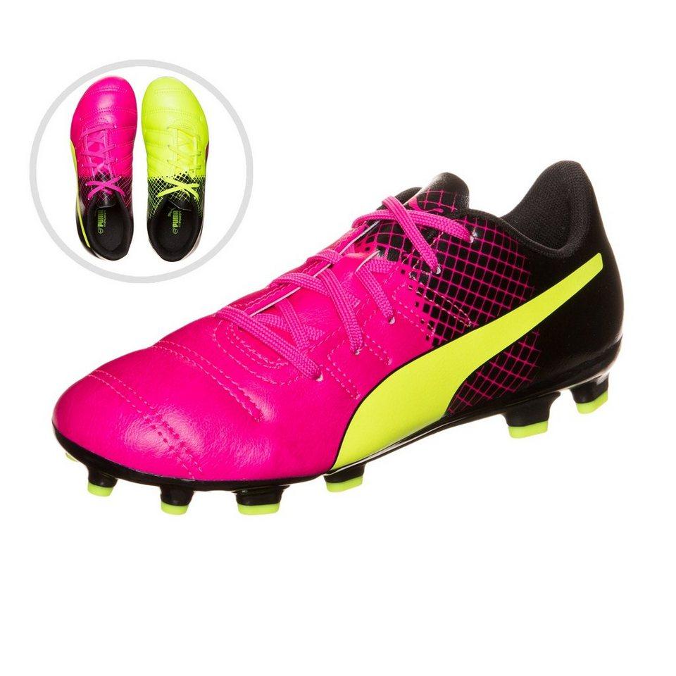 PUMA evoPOWER 4.3 Tricks AG Fußballschuh Kinder in pink / neongelb