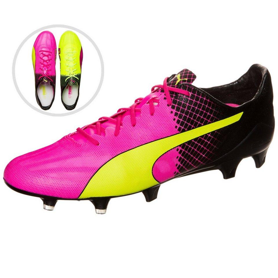 PUMA evoSPEED SL II Tricks FG Fußballschuh Herren in pink / neongelb