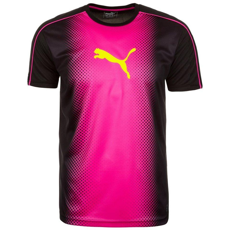 PUMA IT evoTRG Cat Graphic Tricks Trainingsshirt Herren in schwarz / pink