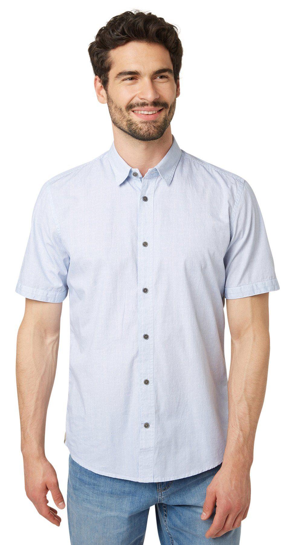TOM TAILOR Hemd »Kurzarm-Hemd mit feinen Muster«