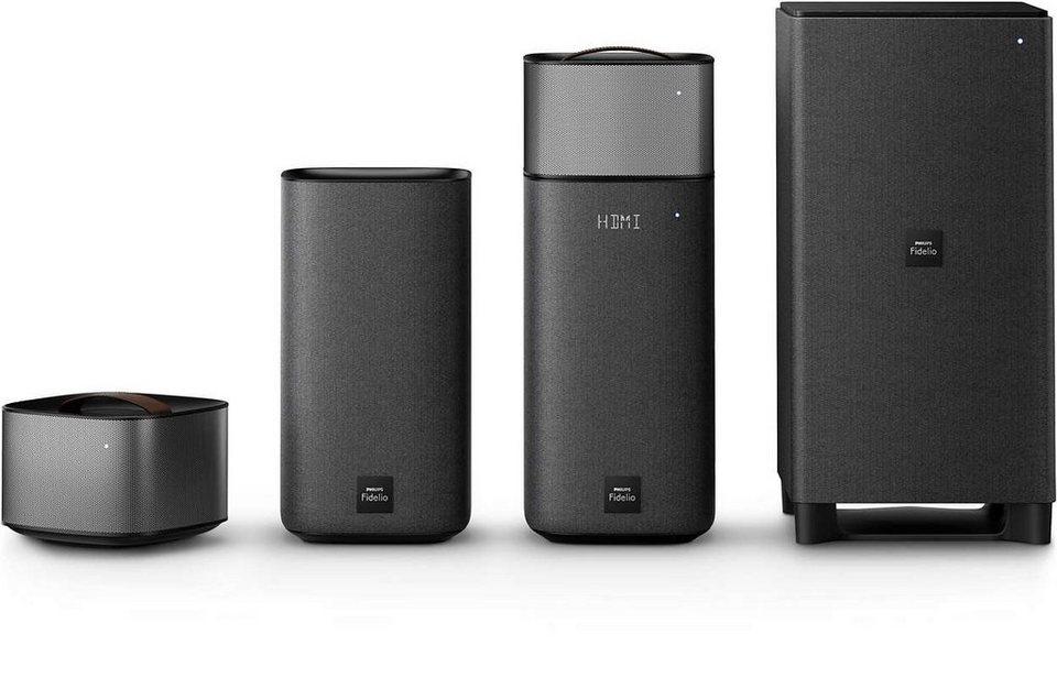 Philips Fidelio Surround Sound Heimkino System mit Bluetooth & Spotify Connect »E6/12« in schwarz