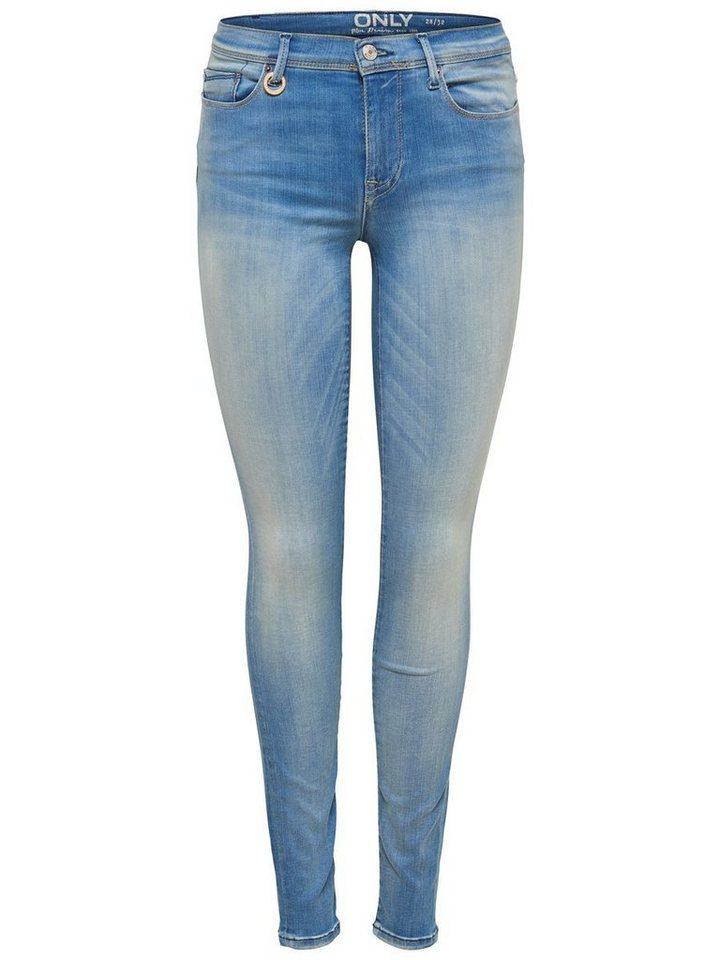 Only Shape reg Skinny Fit Jeans in Light Blue Denim