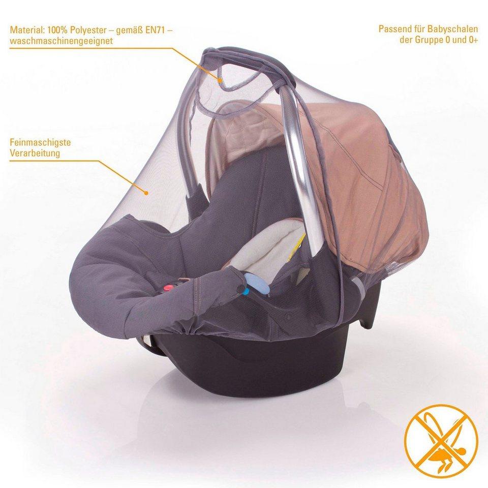 DIAGO Moskitonetz für Babyschale in grau