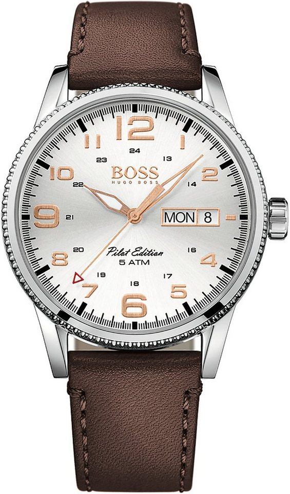 Boss Quarzuhr »PILOT, 1513333« in braun