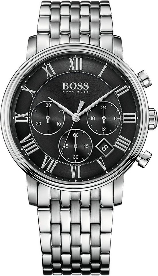 Boss Chronograph »ELEVATED CLASSIC, 1513323« in silberfarben