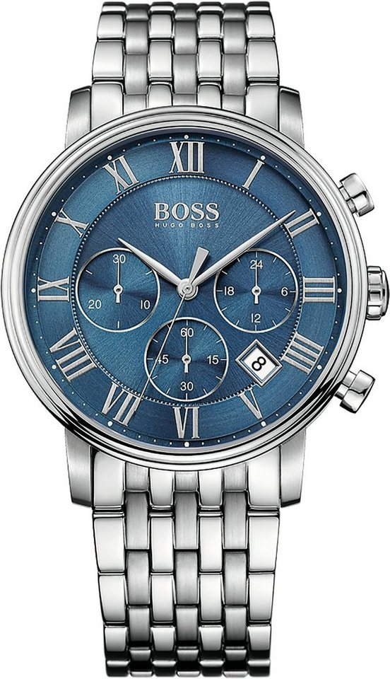 Boss Chronograph »ELEVATED CLASSIC, 1513324« in silberfarben