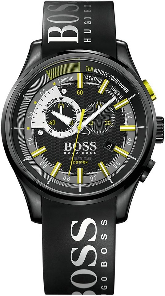 Boss Chronograph »YACHTING TIMER II, 1513337« in schwarz