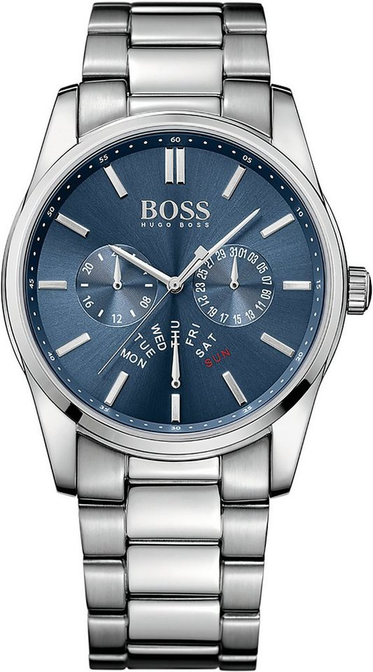 Boss Multifunktionsuhr »HERITAGE, 1513126« in silberfarben
