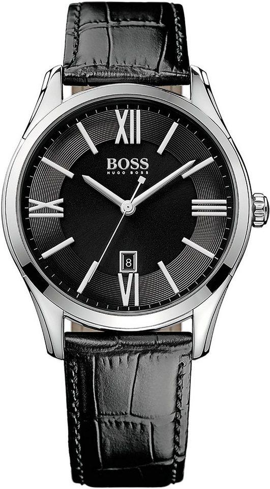 Boss Quarzuhr »AMBASSADOR ROUND, 1513022« in schwarz