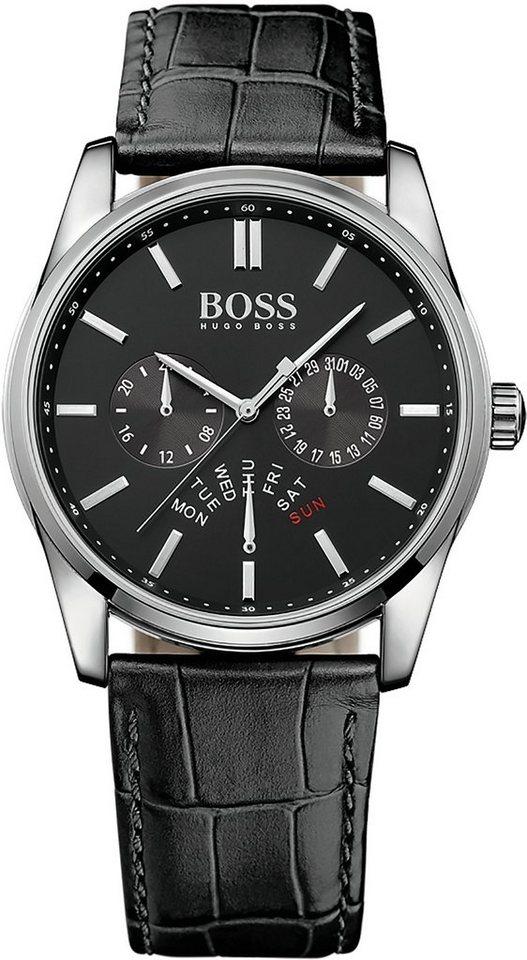 BOSS Multifunktionsuhr, »HERITAGE, 1513124« in schwarz