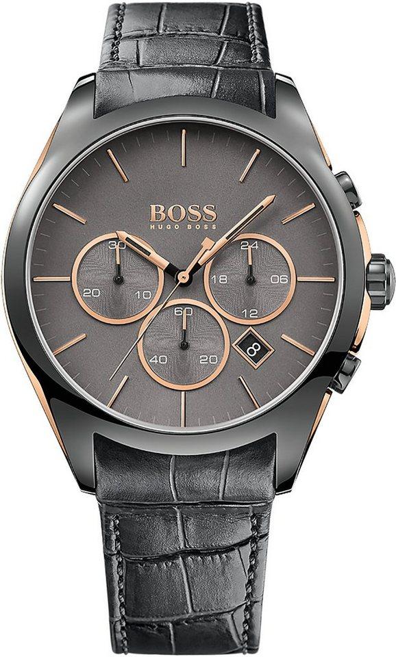 Boss Chronograph »ONYX, 1513366« in grau