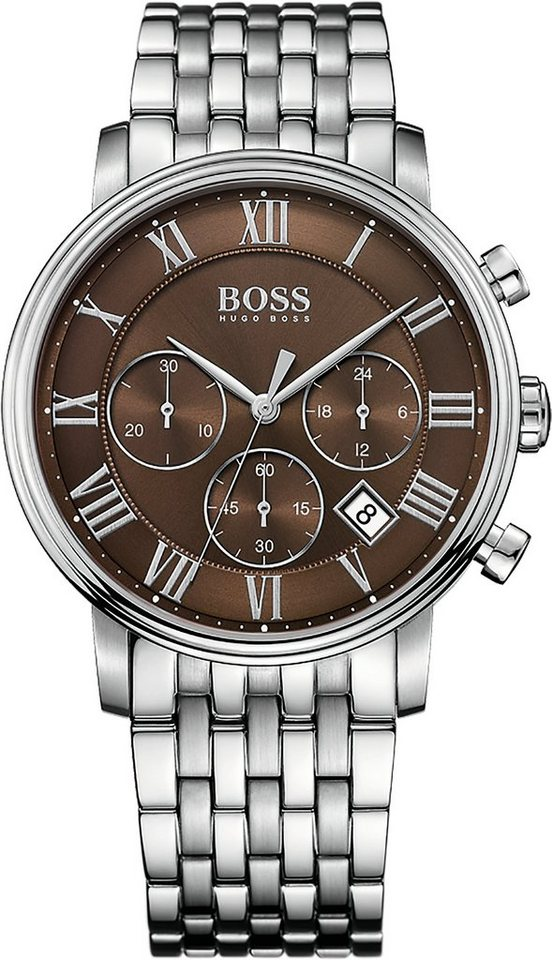 Boss Chronograph »ELEVATED CLASSIC, 1513326« in silberfarben