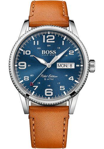 Herren Boss Quarzuhr PILOT, 1513331 braun | 07613272200509
