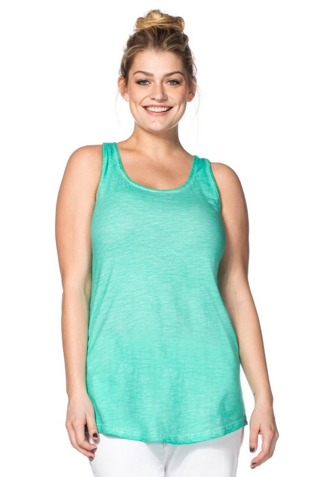 sheego Casual Tanktop in mint