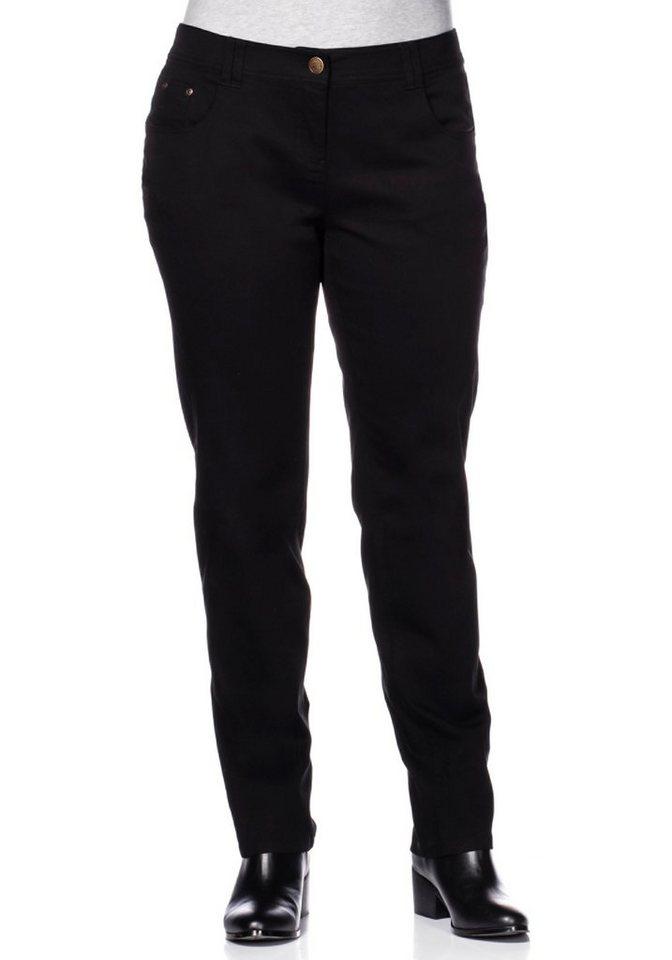 Joe Browns Schmale Hose aus Baumwoll-Twill in schwarz