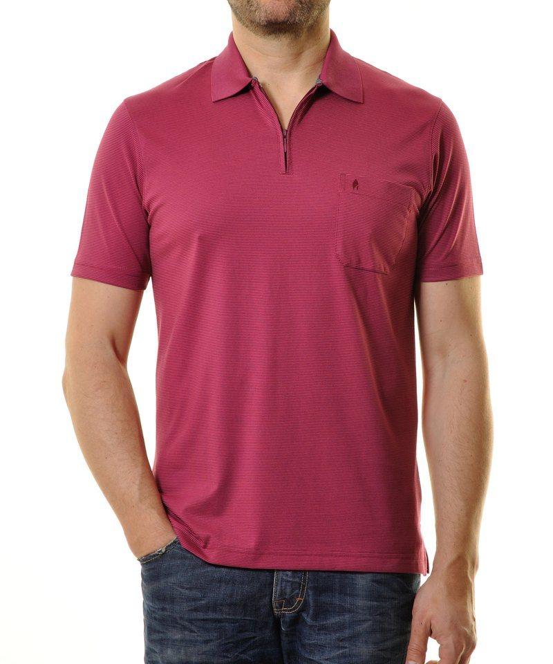 Ragman Poloshirt in purpurviolett