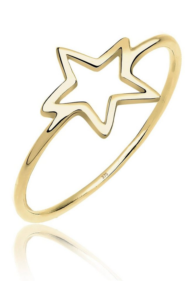 Elli Ring »Stern Blogger Symbol 375 Gelbgold« in Gold