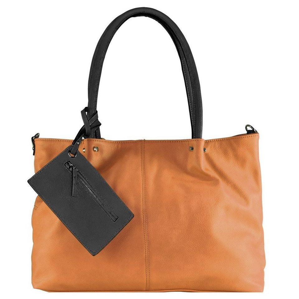 Maestro Surprise Bag in Bag Shopper Tasche 45 cm in cognac schwarz