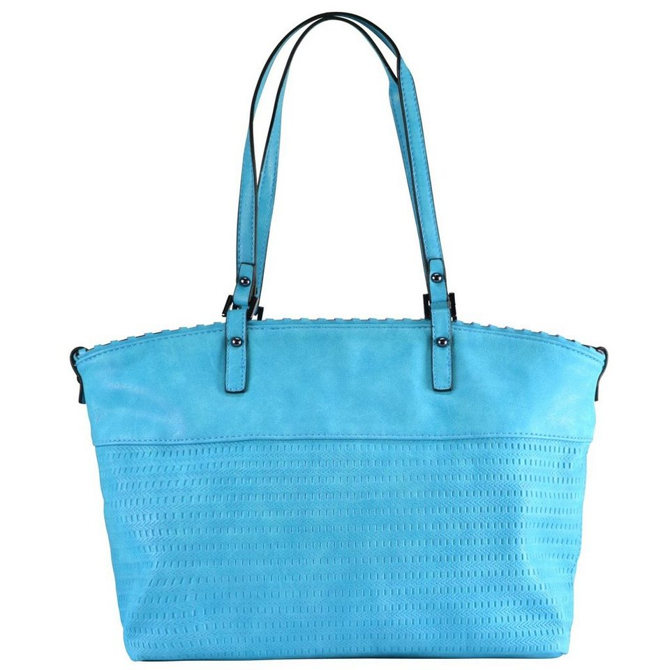 Maestro Surprise Bag in Bag Shopper Tasche 40 cm in türkis