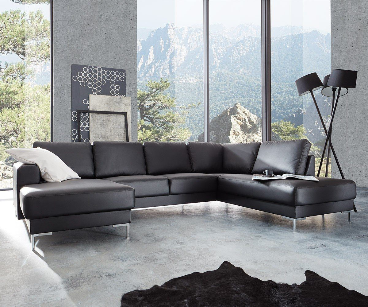 DELIFE Couch Silas Schwarz 300x200 cm Ottomane