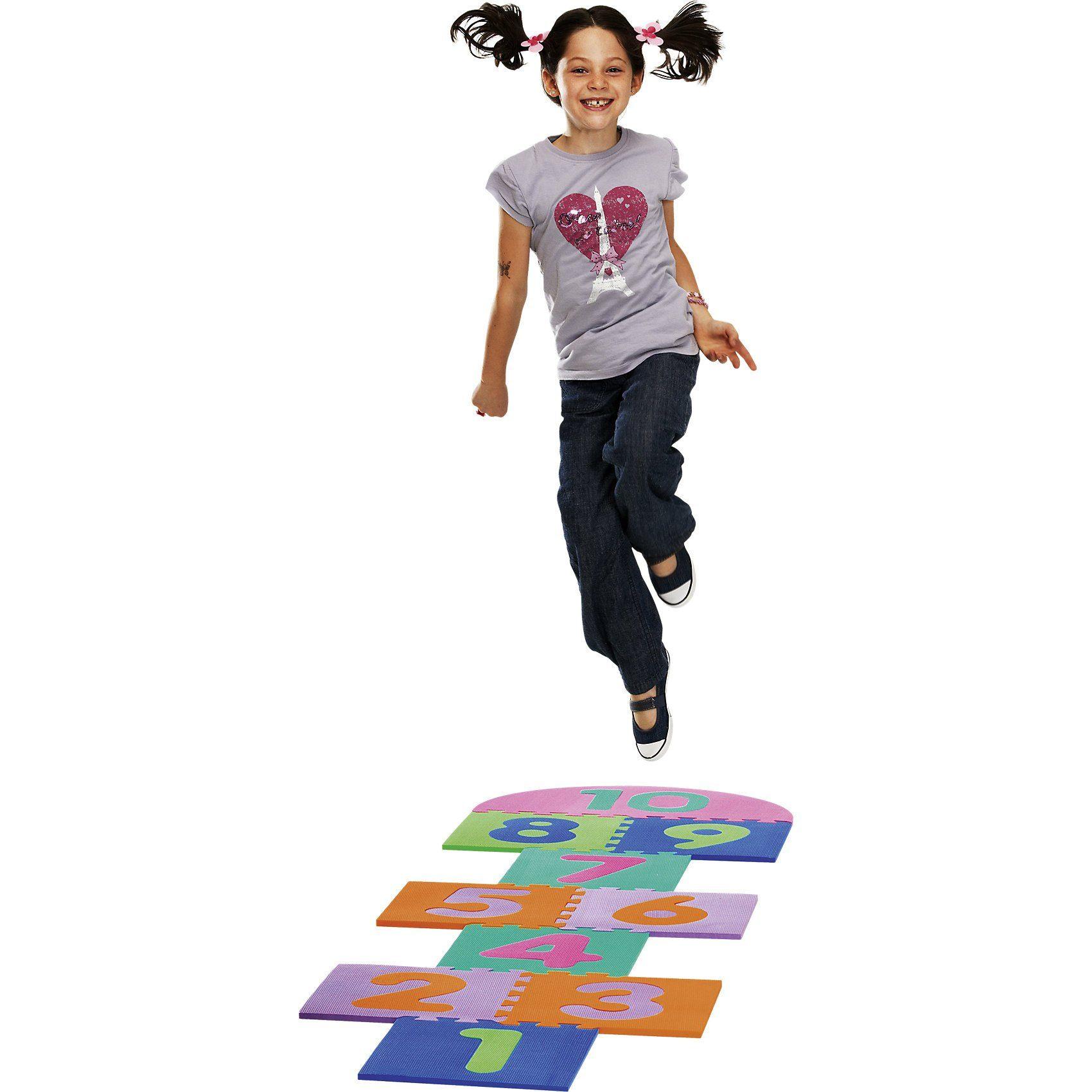 Playshoes Hüpfspiel Puzzlematte 14teilig