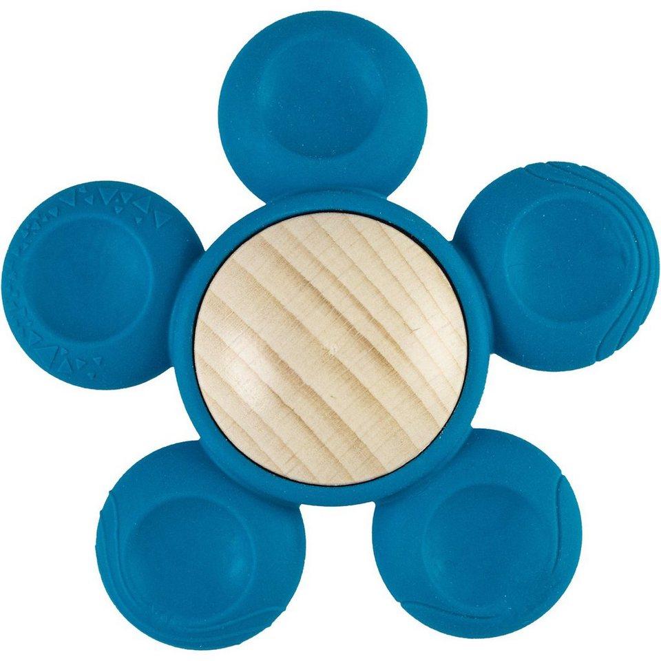 FiO+ - Holzgreifling Blume blau